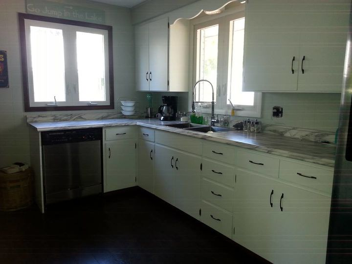 q color ideas for cabinets and panelling, kitchen cabinets, kitchen design, paint colors, painting, After pic