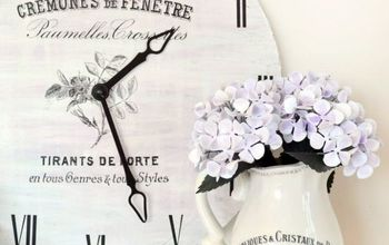 DIY Large French Clock & a Free Printable