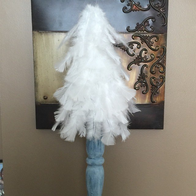 white feather christmas tree tutorial christmas decorations how to
