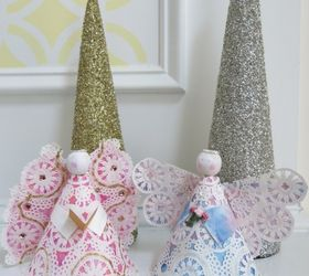 easy christmas craft paper plate angels christmas decorations crafts how to seasonal & Easy Christmas Craft: Paper Plate Angels | Hometalk