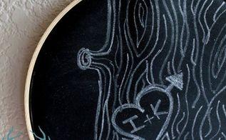embroidery hoop chalkboard diy, chalkboard paint, crafts