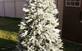 how to flock your christmas tree, christmas decorations, how to