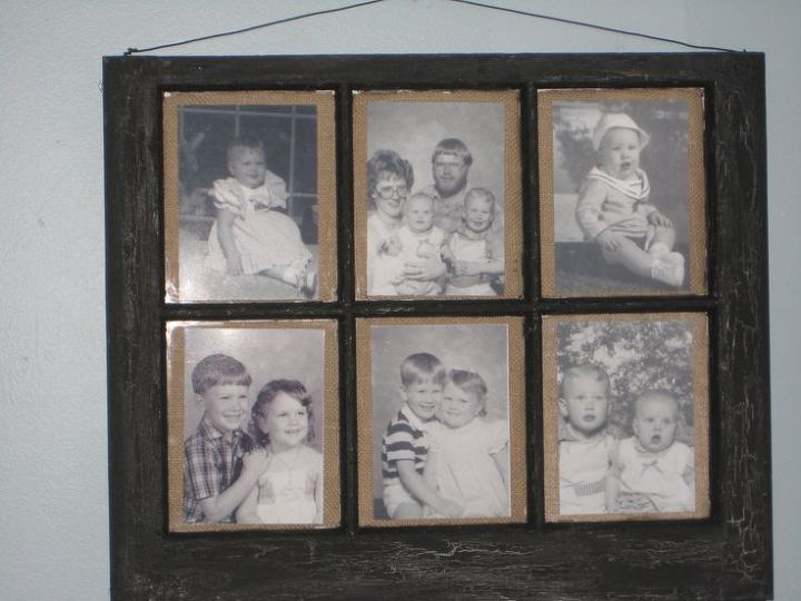 old window and burlap, crafts, repurposing upcycling