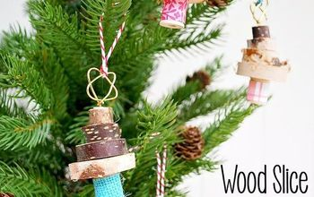 Stacked Wood Slice Christmas Tree Ornament