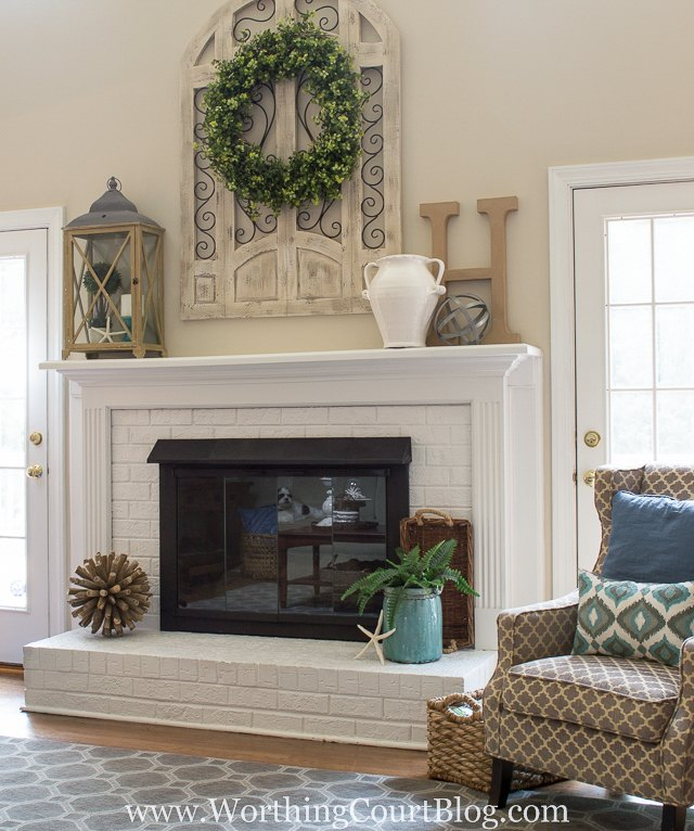 Dated Fireplace Makeover Amazing Transformation On A