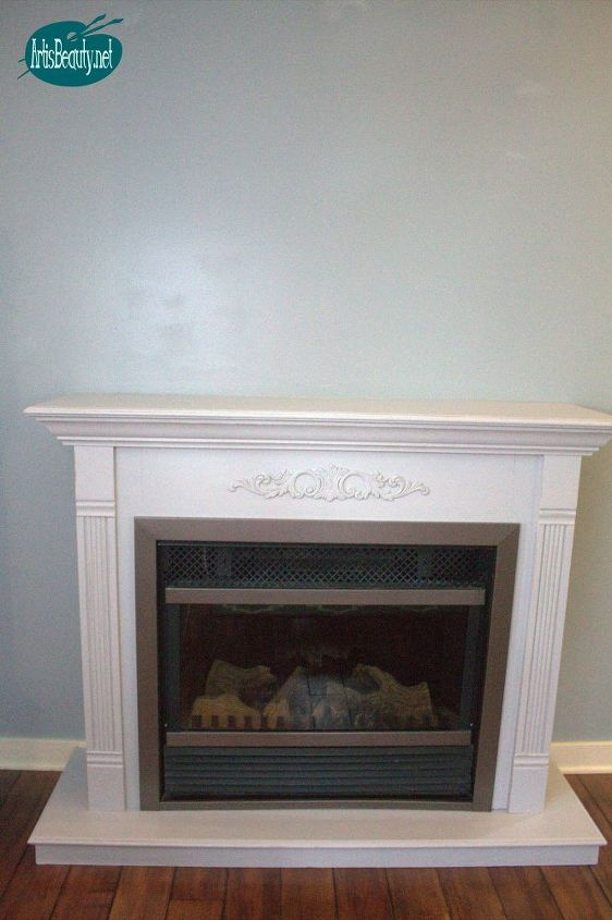 cheap and easy faux ship lap fireplace makeover diy for under 30, diy, fireplaces mantels, home decor, painting, wall decor