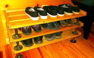 no more shoes littering the entry, diy, pallet, woodworking projects