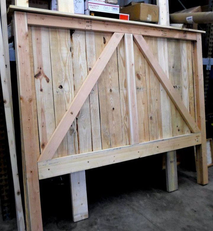 Pallet Wood Up Cycled Into One Heavy Duty Barn Door Bed