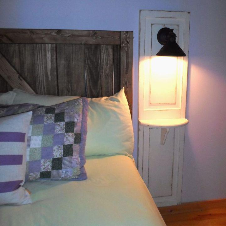 Master Bedroom Up Cycled Bi Fold Doors Turned Reading
