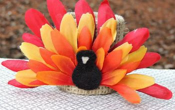 Flower Turkeys for #Thanksgiving