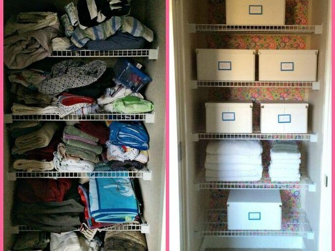 realistic linen closet organization, closet, organizing, storage ideas