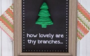 o christmas tree wall hanging, christmas decorations, crafts