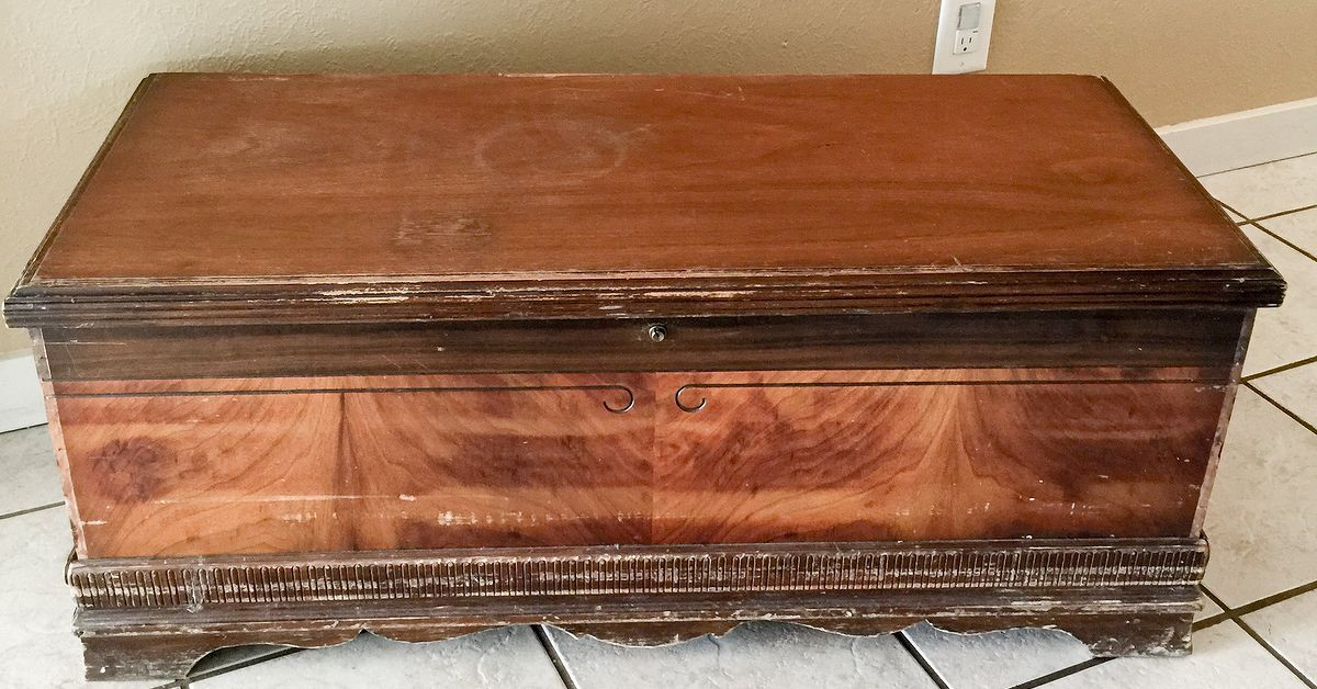1940 S Cedar Chest Makeover Adventure With Colors