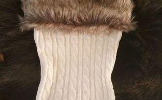knock off holiday stockings, christmas decorations, crafts, seasonal holiday decor