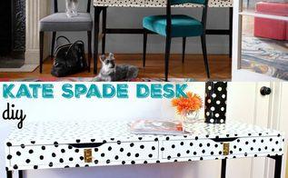 ikea hack kate spade desk, painted furniture, repurposing upcycling