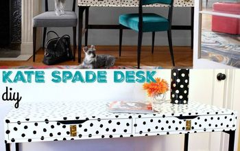 ikea hack kate spade desk, painted furniture, repurposing upcycling