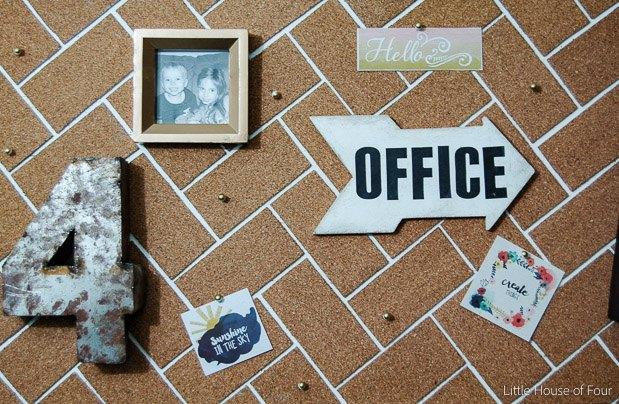 diy herringbone cork board, crafts, home office, how to