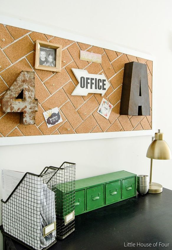 diy herringbone cork board crafts home office how to