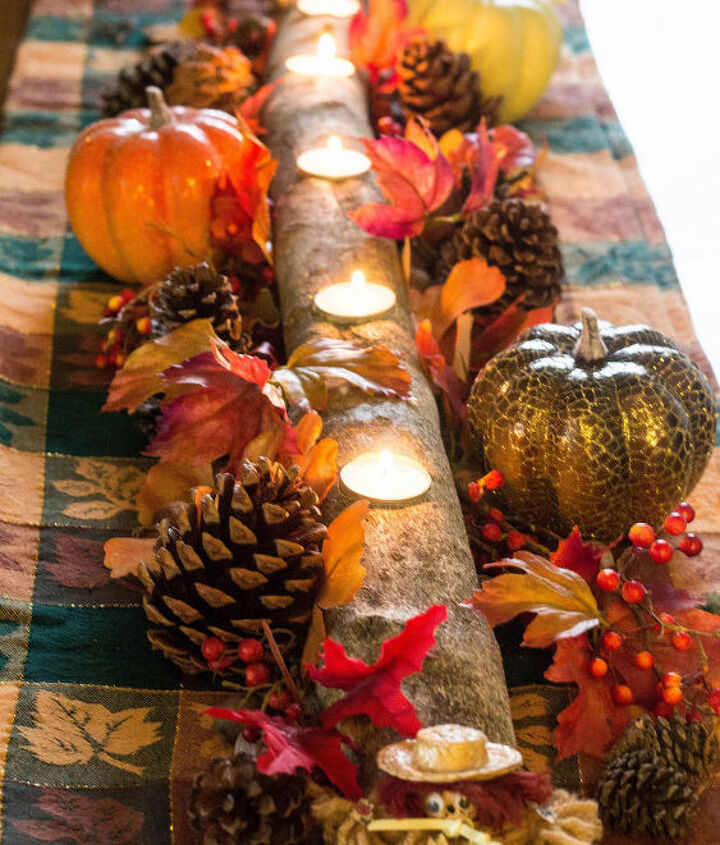 New fall table centerpiece