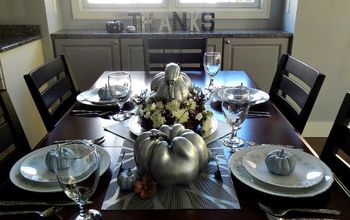 create a spectacular silver thanksgiving centerpiece, crafts, seasonal holiday decor