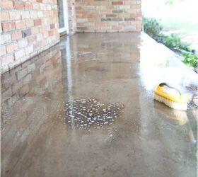 Easy Painted Concrete Rug, Concrete Masonry, Diy, Outdoor Living, Patio