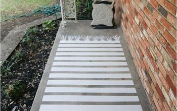Easy Painted Concrete Rug