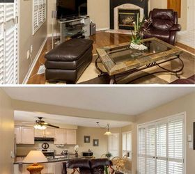 Family Room Gets A Cozy Makeover Before After, Home Decor, Living Room Ideas
