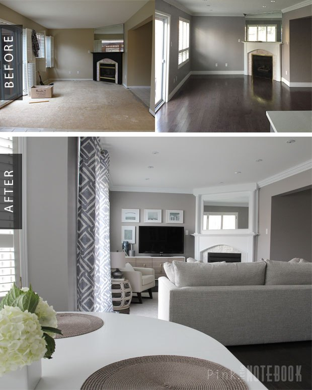 Family Room Gets A Cozy Makeover Before After Home Decor Living Ideas