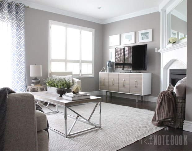 Family room gets a cozy makeover before after hometalk - Small living room before and after ...