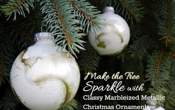 Classy Marbleized Metallic Christmas Ornaments