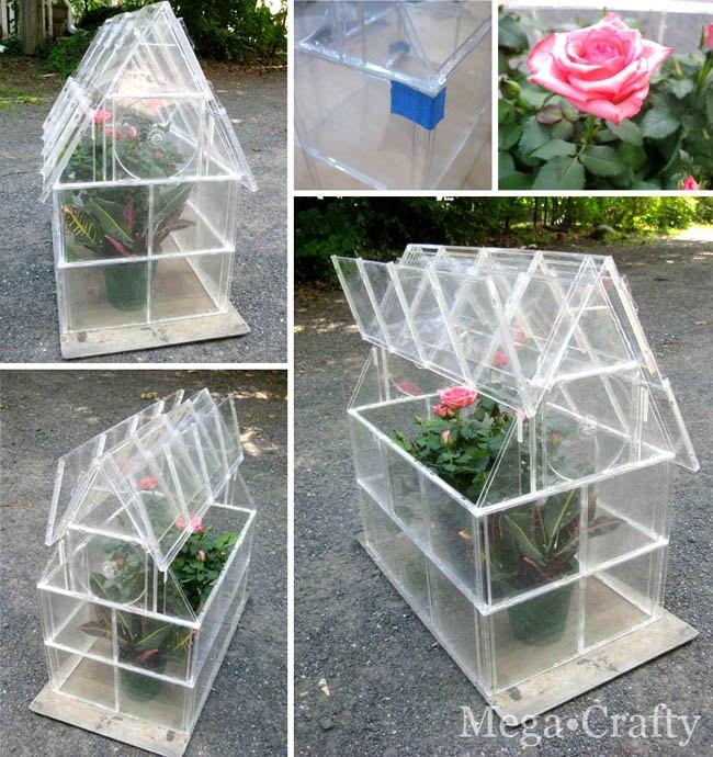 diy mini greenhouse ideas, container gardening, diy, flowers, gardening, homesteading