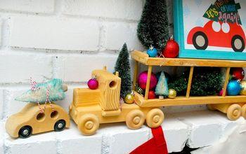 Christmas Trees on Cars Mantle Decor and Printable