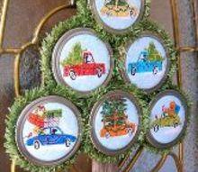 easy to make christmas ornaments with mason jar lids, christmas decorations, crafts, mason jars, seasonal holiday decor