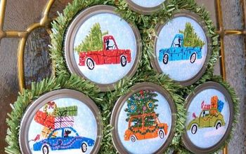 easy to make christmas ornaments with mason jar lids, christmas decorations, crafts, mason jars, seasonal holiday decor