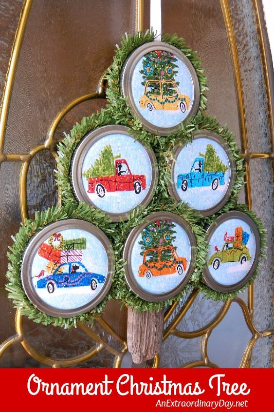 Easy To Make Christmas Ornaments With Mason Jar Lids