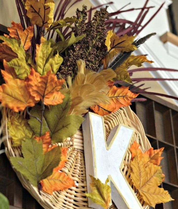 upcycled fall basket wreath, crafts, wreaths