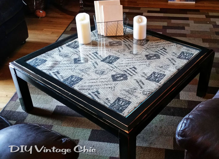 diy upcycled coffee table, painted furniture