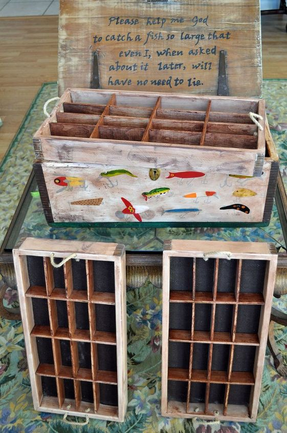 an old box gets a new life, organizing, repurposing upcycling, storage ideas, tools