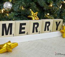 diy scrabble tile holiday decor, christmas decorations, crafts, seasonal holiday decor