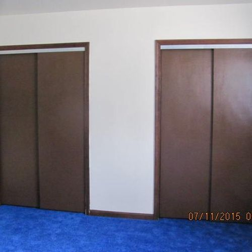 painted closet door ideas. I Painted The Doors With A Brush And Sienna Brown Paint From True Value. Yes Closet Door Ideas R