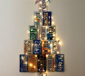 christmas tree from old license plates christmas decorations crafts repurposing upcycling & Christmas Tree From Old License Plates   Hometalk