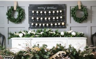 diy christmas countdown, chalkboard paint, christmas decorations, crafts, how to, seasonal holiday decor