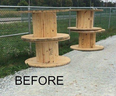 Furniture Made From Wooden Spools Desainrumahkerencom