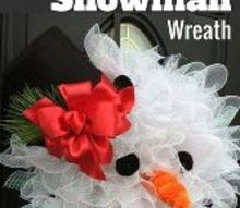 how to make deco mesh snowman wreath, crafts, how to, seasonal holiday decor, wreaths