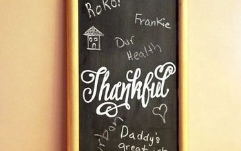 DIY Thankful Chalkboard That's Perfect for Thanksgiving!