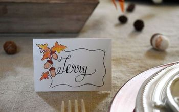 create thanksgiving placecards or download for free, seasonal holiday decor, thanksgiving decorations