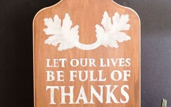 """""""Full of Thanks & Giving"""" DIY Wall Hanging"""
