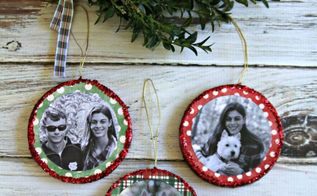 mod podge photo ornaments, christmas decorations, crafts, decoupage, seasonal holiday decor