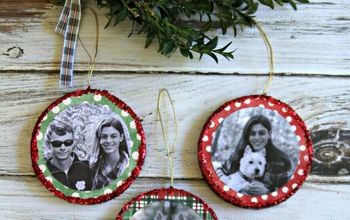 mod podge photo ornaments, christmas decorations, crafts, decoupage, seasonal holiday decor