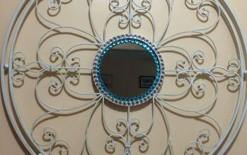 metal mirror update, crafts, wall decor